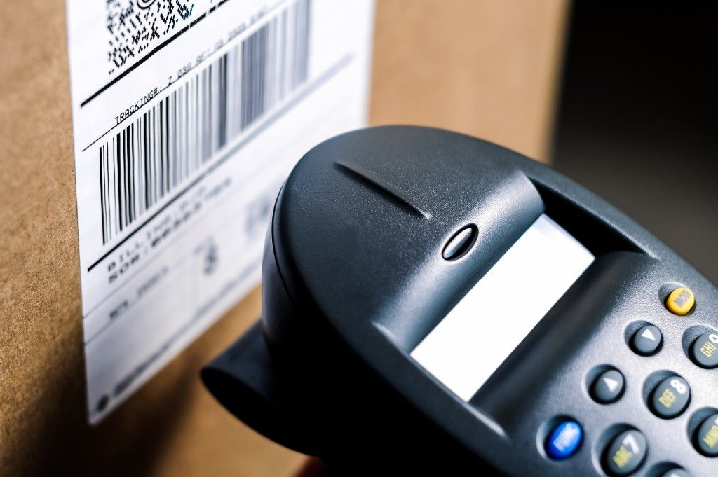 Barcode on a box