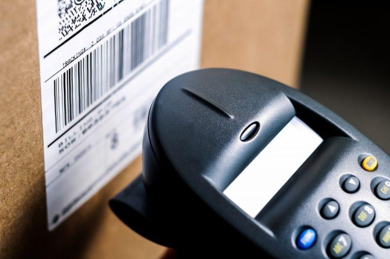 Barcode on a box