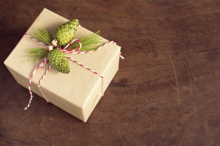 gift wrapped with paper
